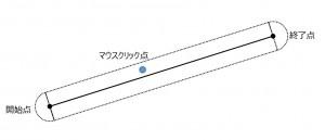 直線の選択領域(両端点考慮)